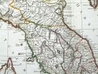 N. ITALY, CORSICA P.F.Tardieu original antique map c1805